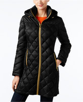 MICHAEL Michael Kors Hooded Packable Down Diamond Quilted Puffer Coat