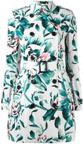 Burberry floral trench coat - women - Cotton/Viscose - 8