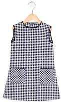 Oscar de la Renta Girls' Geometric Print Shift Dress