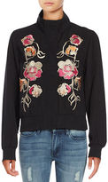 Context Floral Embroidered Bomber Jacket