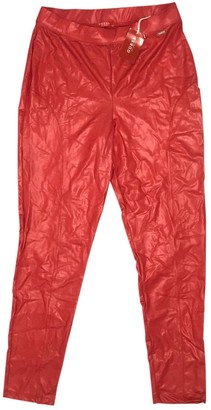 GUESS Red Trousers for Women