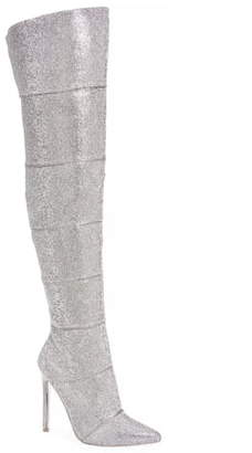 Steve Madden Wonder Crystal Embellished Over the Knee Boot