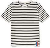 Kule Modern Short Sleeve Stripe Tee Cream Navy