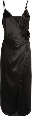 Alexander Wang Silk Twist-Detail Dress