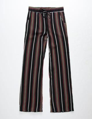 WHITE FAWN Stripe Black & Mustard Girls Palazzo Pants
