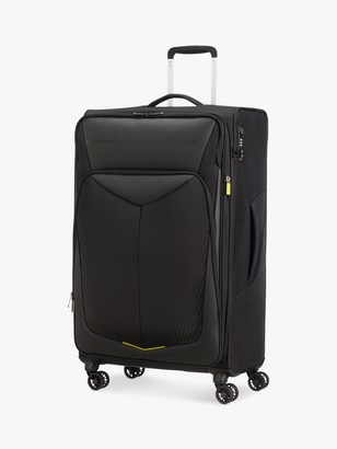 American Tourister Summer Funk Carbon 4-Wheel 79cm Large Suitcase, Black