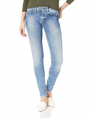 G Star Women's 3301 High Rise Skinny Fit Jean in Nippon Superstretch Medium Aged
