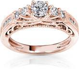 Kobelli Jewelry 3/4 CT TW Diamond 14K Rose Gold 5-Stone Engagement Ring