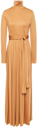 The Row Dominique Belted Satin Maxi Dress