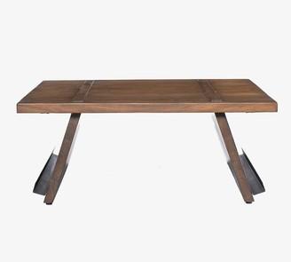 "Pottery Barn Sarnia 40"" Reclaimed Wood Square Coffee Table"