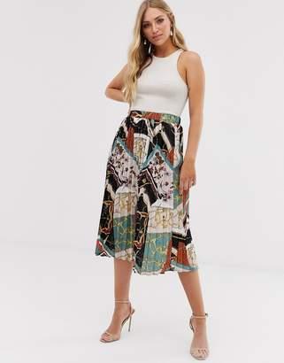 Vila scarf print skirt-Multi