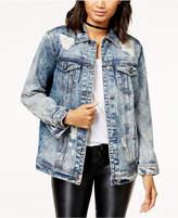 Free Heart Cotton Stonewashed Denim Jacket