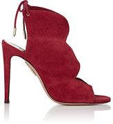 Aquazzura Women's Pasadena Suede Sandals-RED