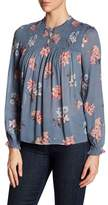 Lucky Brand Ruched Floral Blouse