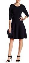 Lucy Paris Anastasia 3/4 Length Sleeve Bubble Knit Dress