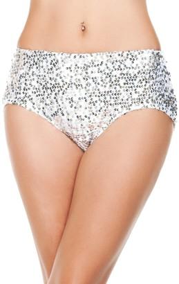 Starline Women's Sequin High Waist Shorts