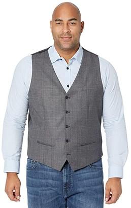 Johnny Bigg Big Tall Harris Check Waistcoat (Charcoal) Men's Coat