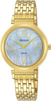 Pulsar Womens Gold Tone Bracelet Watch-Py5030