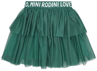 Mini Rodini Logo tulle skirt