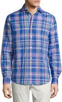 Ralph Lauren Plaid Woven Shirt, Bright Blue