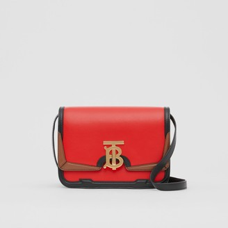 Burberry Small Applique Leather TB Bag
