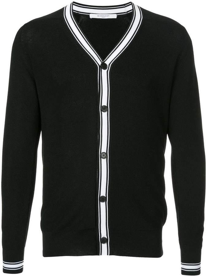 Givenchy contrast stripe cardigan
