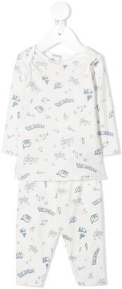 Bonpoint Logo Two-Piece Pajama Set