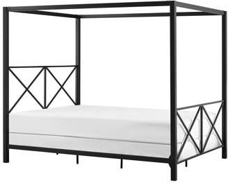 DHP Rosedale Metal Canopy Bed, Full Size, Black