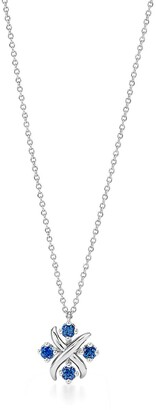 Tiffany & Co. Schlumberger Lynn pendant in platinum with sapphires