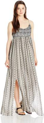 Paper Crane Papercrane Women's Strappy Printed Maxi Dress