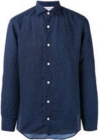 Eleventy longsleeve button-up shirt - men - Cotton/Linen/Flax - 43