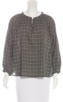 The Great Plaid Peasant Blouse w/ Tags