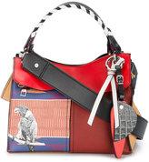 Proenza Schouler Curl mixed print handbag
