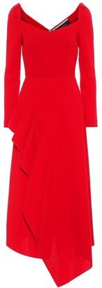 Roland Mouret Blackwater wool-crApe dress