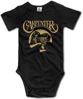 Baby Onesies Unisex Carpenter Band Logo Baby Short Sleeve Onesies