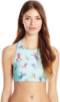 MinkPink Women's Stay Jelly Crop Bikini Top
