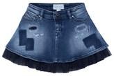 Diesel Blue Distressed Denim Skirt