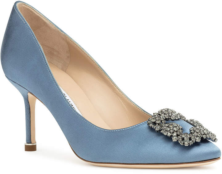 01ccca0a42 Blue Pointed Flats - ShopStyle UK