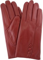 SNUGRUGS Ladies Butter Soft Leather Glove with Button Feature & Warm Fleece Lining