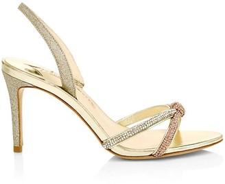 Sophia Webster Embellished Metallic Leather Slingback Sandals