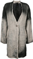 Avant Toi single breasted coat - women - Linen/Flax - S
