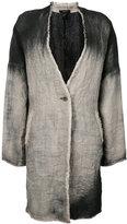 Avant Toi single breasted coat - women - Linen/Flax - S