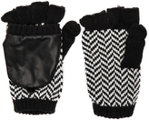 Plush Herringbone Texting Mittens