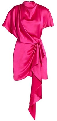 Acler Lochner Satin Draped Dress