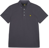 Lyle & Scott Woven Button Collar Polo Shirt, Washed Grey