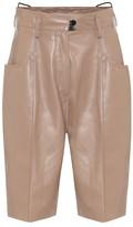Petar Petrov Hugo high-rise leather shorts