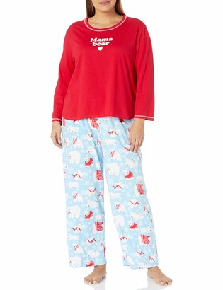 Karen Neuburger Women's Long Sleeve Pullover Pajama Set Pj