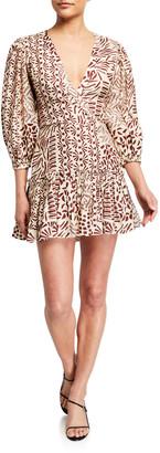 Alexis Idony Printed 3/4-Sleeve Dress