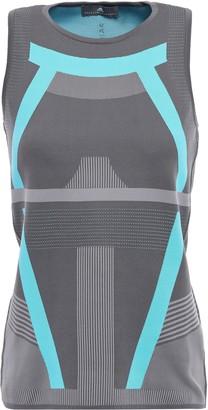 adidas by Stella McCartney Stretch Intarsia-knit Tank