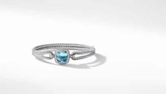 David Yurman Albion Bracelet With Blue Topaz And Diamonds, 11Mm